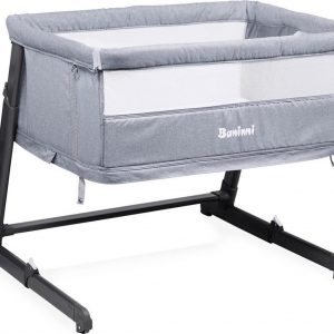 Baninni 2-in-1 Co-Sleeper & Park Leya Gray