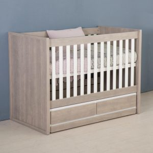 Bebies First- Babykamer Colorado - Ledikant - Grijs - Wit