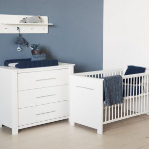 Bebies First - Babykamer Nick - 2-delige - Ledikant - Commode - Wit