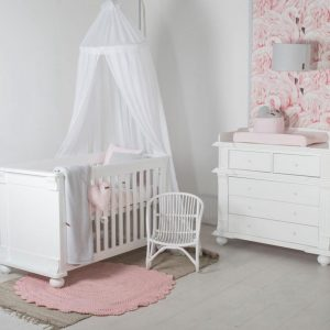 Born Lucky - Babykamer Barcelona - 2-delige - Ledikant - Commode - Wit
