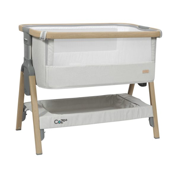 Topmark CoZee Co-sleeper Oak / Silver
