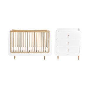 Snuzkot Skandi Babykamer Natural | Babybed + Commode