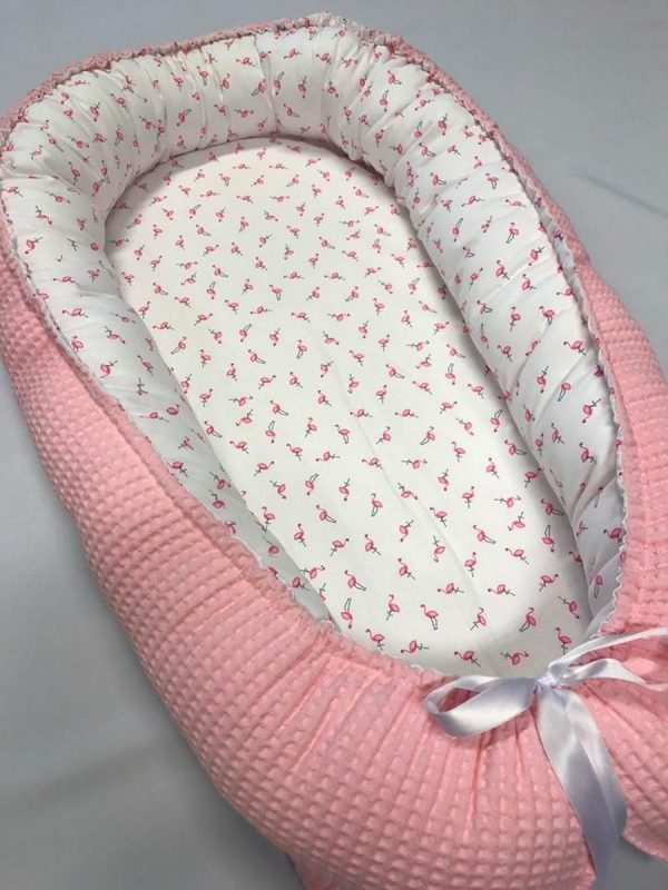 Babynestje Little flamingo pink