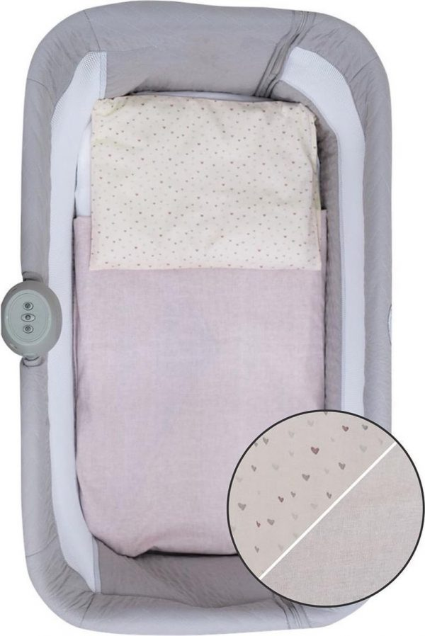 Bubaba 3-delige aankleding Pink voor Co sleepers (o.a. Free to Me wieg)