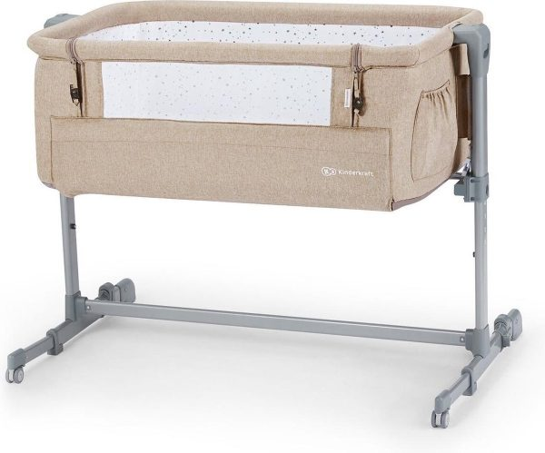 Kinderkraft Co Sleeper - Aanschuifwieg - Neste UP - Beige Melange