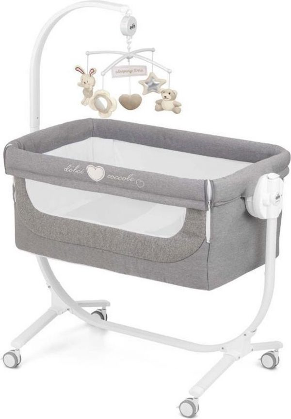 CAM Cullami Co-Sleeper - Wieg - MELANGE ANTRACITE - Made in Italy