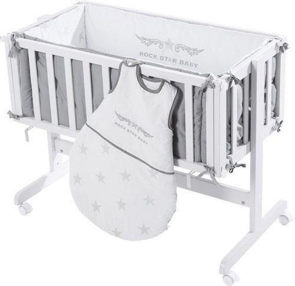 Roba Babybed Room & Craddle 87,5 X 44 Cm Hout/katoen Wit